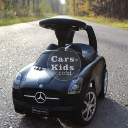Толокар Mercedes SLS черный (матовый, музыка, гудок, бардачок)